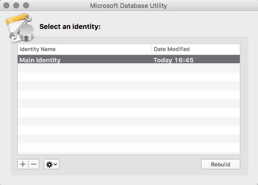 The Microsoft Database Utility